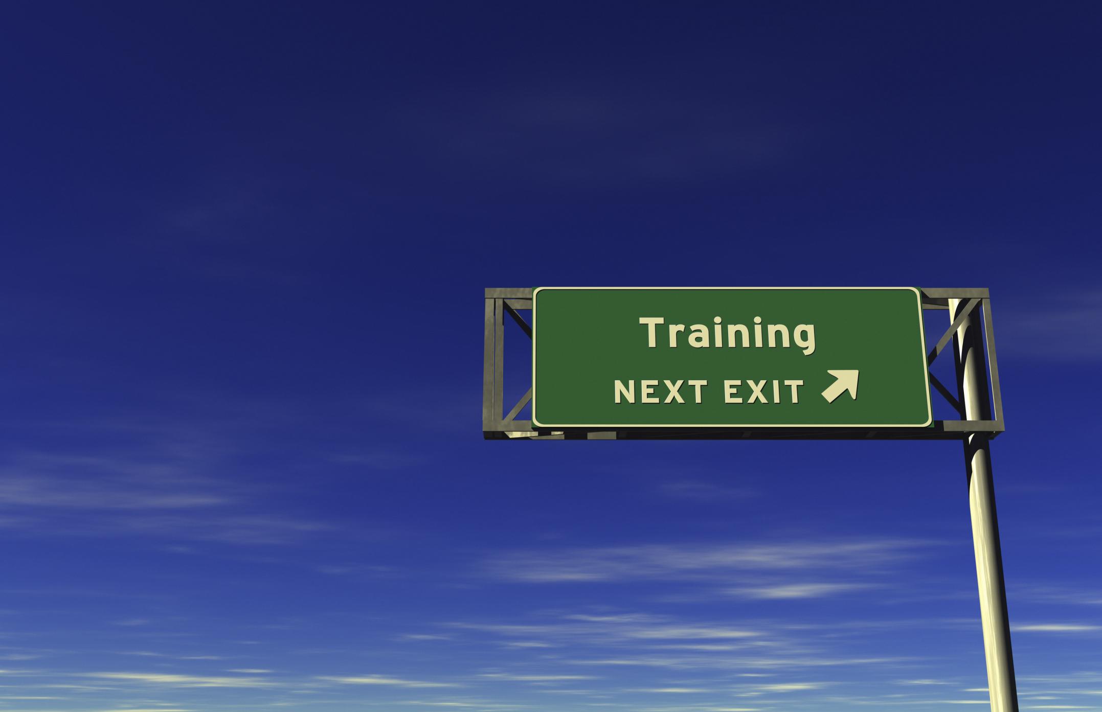 training-sign