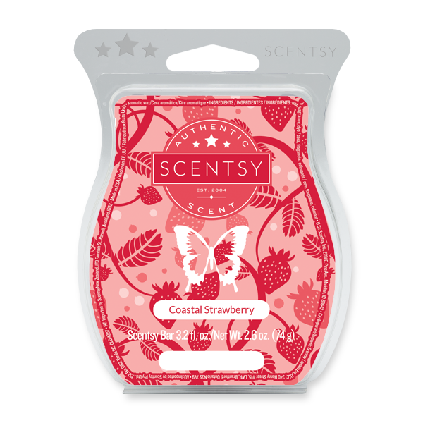 COASTAL STRAWBERRY SCENTSY BAR Scentsy Melts