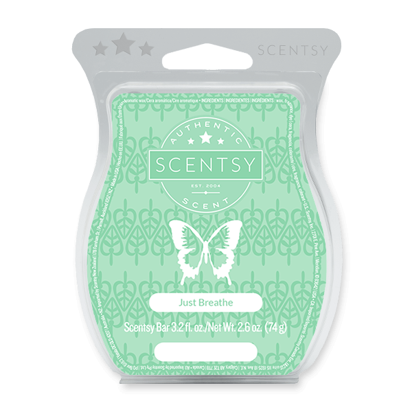 JUST BREATHE SCENTSY BAR Wax Melts