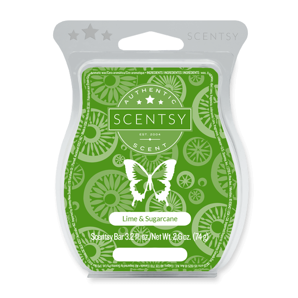 LIME AND SUGARCANE SCENTSY BAR Scentsy Melts