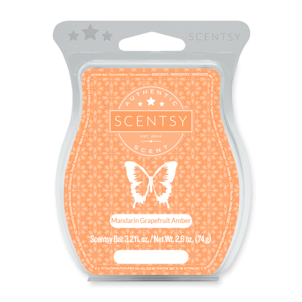 MANDARIN GRAPEFRUIT AMBER SCENTSY BAR Scentsy Melts