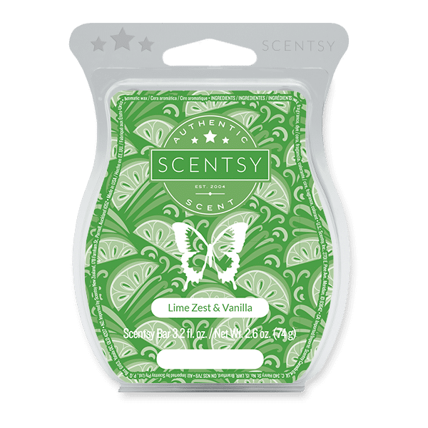 Lime Zest & Vanilla Scentsy Bar Scentsy Wax Melts