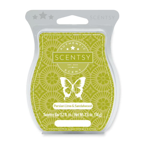 Persian Lime & Sandalwood Scentsy Bar Scentsy Wax Melts